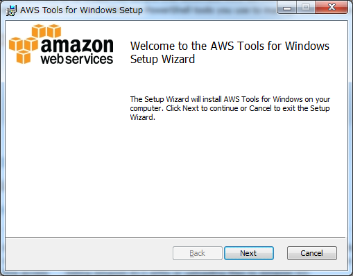AWS Tools for Windows Setup